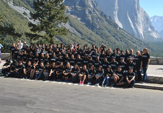Business Academy students in Yosemite National Park